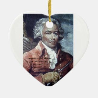 Joseph Bologne, Chevalier de Saint-Georges Ceramic Ornament
