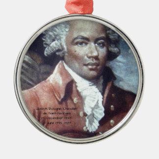 Joseph Bologne, Chevalier de Saint-Georges Metal Ornament