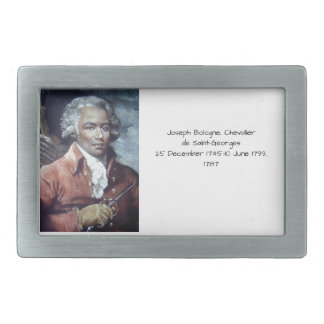 Joseph Bologne, Chevalier de Saint-Georges Rectangular Belt Buckles