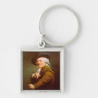 Joseph Ducreux Silver-Colored Square Key Ring