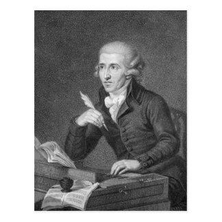 Joseph Haydn  engraved by Schiavonnetti, 1792 Postcard
