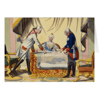 Joseph II, Catherine the Great and Frederick II Card