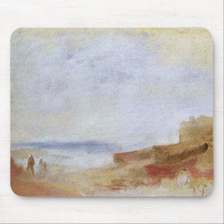 Joseph Mallord Turner - Coastal scene with buildin Mousepad