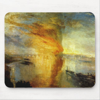 Joseph Mallord Turner - Fire at the Parliament bui Mouse Pads
