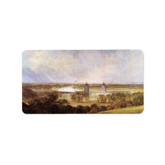 Joseph Mallord Turner - London Address Label