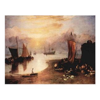 Joseph Mallord Turner - Rising sun in the haze whi Post Cards