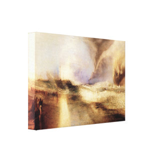 Joseph Mallord Turner - Rockets and blue lights Gallery Wrapped Canvas
