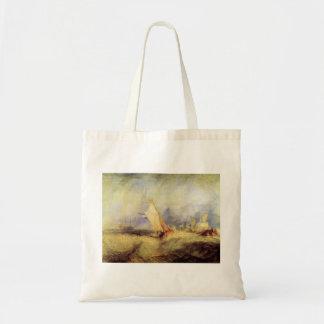Joseph Mallord Turner - Ships at sea Canvas Bag