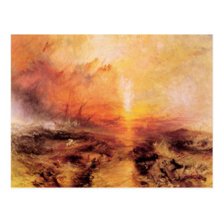 Joseph Mallord Turner - Slaves being thrown overbo Postcard