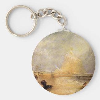 Joseph Mallord Turner - St Michaels Mount Cornwall Basic Round Button Key Ring
