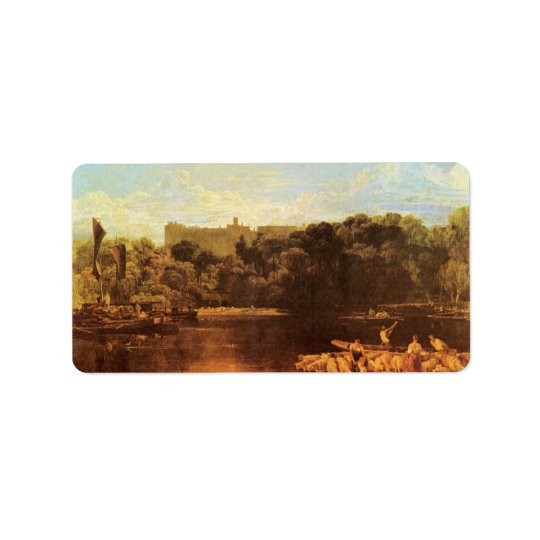 Joseph Mallord Turner - Windsor castle from the Th Address Label