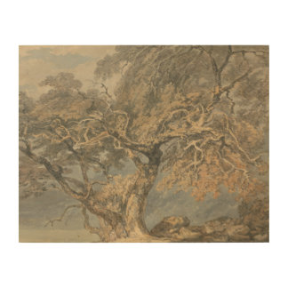 Joseph Mallord William Turner - A Great Tree Wood Canvas