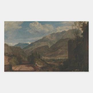 Joseph Mallord William Turner - Chateau de St. Rectangular Sticker