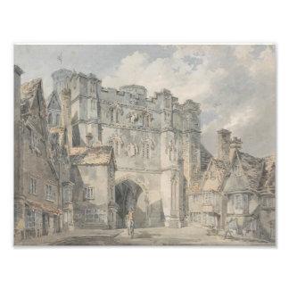 Joseph Mallord William Turner - Christ Church Gate Art Photo