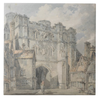 Joseph Mallord William Turner - Christ Church Gate Large Square Tile