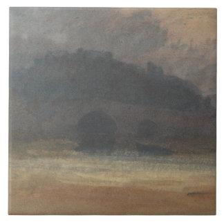 Joseph Mallord William Turner - Evening Landscape Large Square Tile