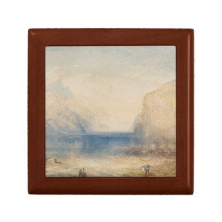 Joseph Mallord William Turner - Fluelen - Morning Small Square Gift Box