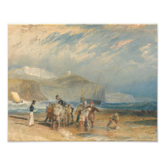 Joseph Mallord William Turner - Folkestone Harbour Photo Art