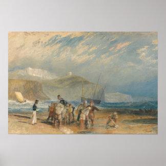Joseph Mallord William Turner - Folkestone Harbour Poster