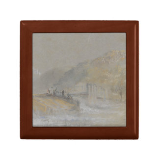 Joseph Mallord William Turner - Foul by God- River Small Square Gift Box