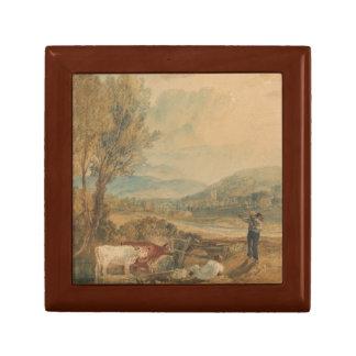 Joseph Mallord William Turner - Lulworth Castle Small Square Gift Box