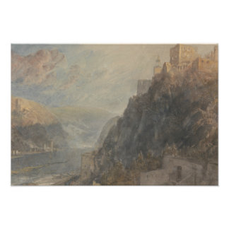 Joseph Mallord William Turner - Rheinfels Looking Photo Art