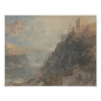 Joseph Mallord William Turner - Rheinfels Looking Photo Print