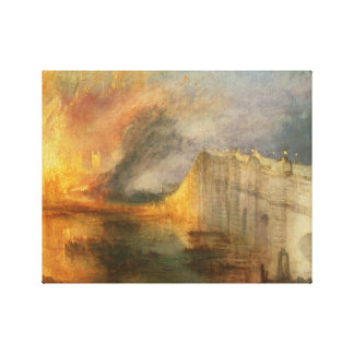 Joseph Mallord William Turner - The Burning of the Canvas Print