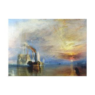 Joseph Mallord William Turner The Fighting Temerai Canvas Print