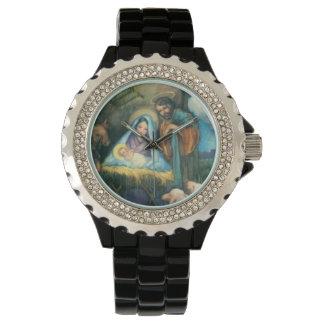 Joseph Mary Jesus Manger Watch