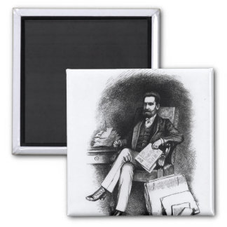 Joseph Pulitzer  from 'The Curio', 1887 Magnet