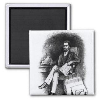 Joseph Pulitzer  from 'The Curio', 1887 Square Magnet