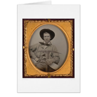 Joseph Sharp, with a pick axe, pan and gun (40010) Card