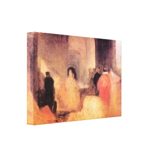 Joseph Turner - A dinner with people in costumes Canvas Prints