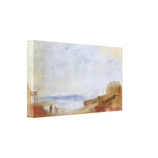 Joseph Turner - Coastal scene with buildings Gallery Wrapped Canvas