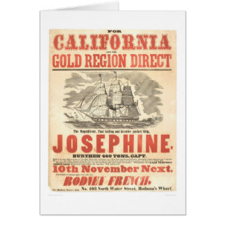 """Josephine"" to California Advertisement (1280A) Greeting Card"