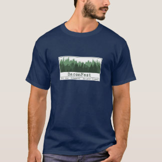 Josh - Short Sleeve Trees Navy 2XL T-Shirt