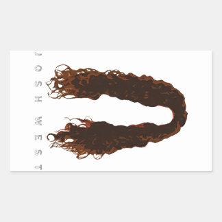Josh's Hair Design Rectangular Sticker