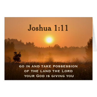 Joshua 1:11 Scripture Take Possession of the Land Card