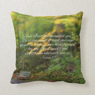 Joshua 1:9 Bible Verse Christian Scripture Cushion