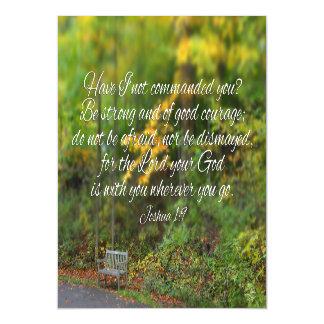 Joshua 1:9 Bible Verse Christian Scripture Magnetic Card