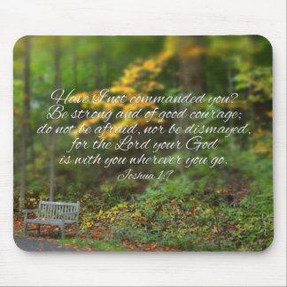 Joshua 1:9 Bible Verse Christian Scripture Mouse Pad