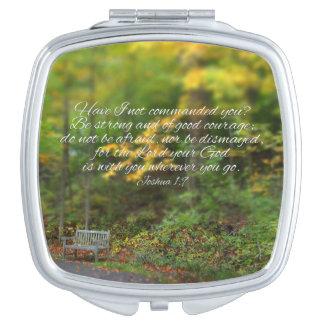 Joshua 1:9 Bible Verse Christian Scripture Travel Mirror