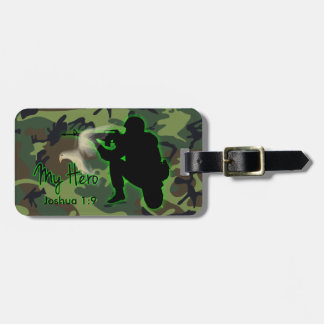 Joshua 1:9 Soldier Luggage Tag w/ leather strap