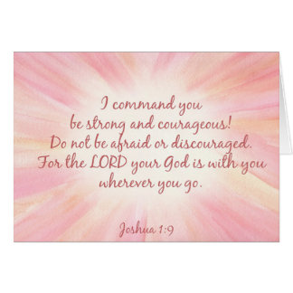Joshua 1:9 Watercolor Starburst Card
