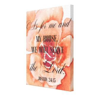 Joshua 24:15 Flower Canvas Print