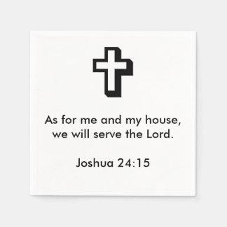 Joshua 24:15 Napkins Paper Serviettes