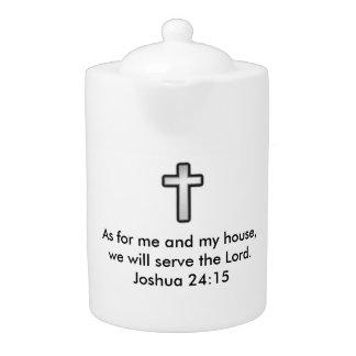 Joshua 24:15 Teapot