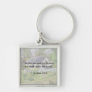 Joshua 24:15 Van Gogh House Key Chains
