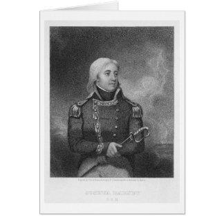 Joshua Barney (1759-1818), engraved by J. Gross af Greeting Card